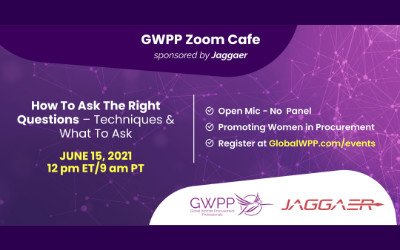 GWPP Zoom Cafe! How to Ask the Right Questions – Techniques & What to Ask! | Sponsored by Jaggaer